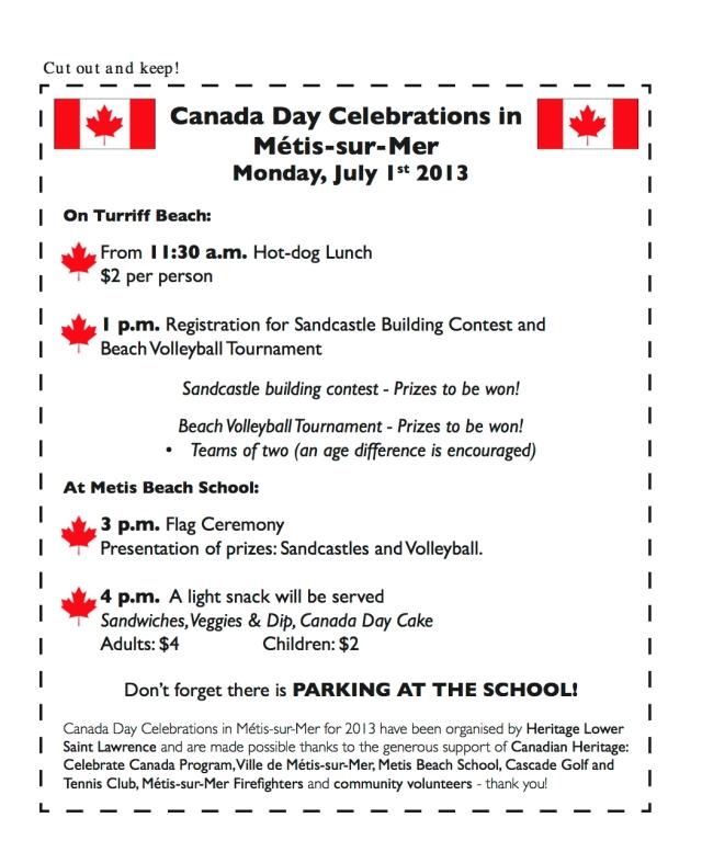 Canada Day program