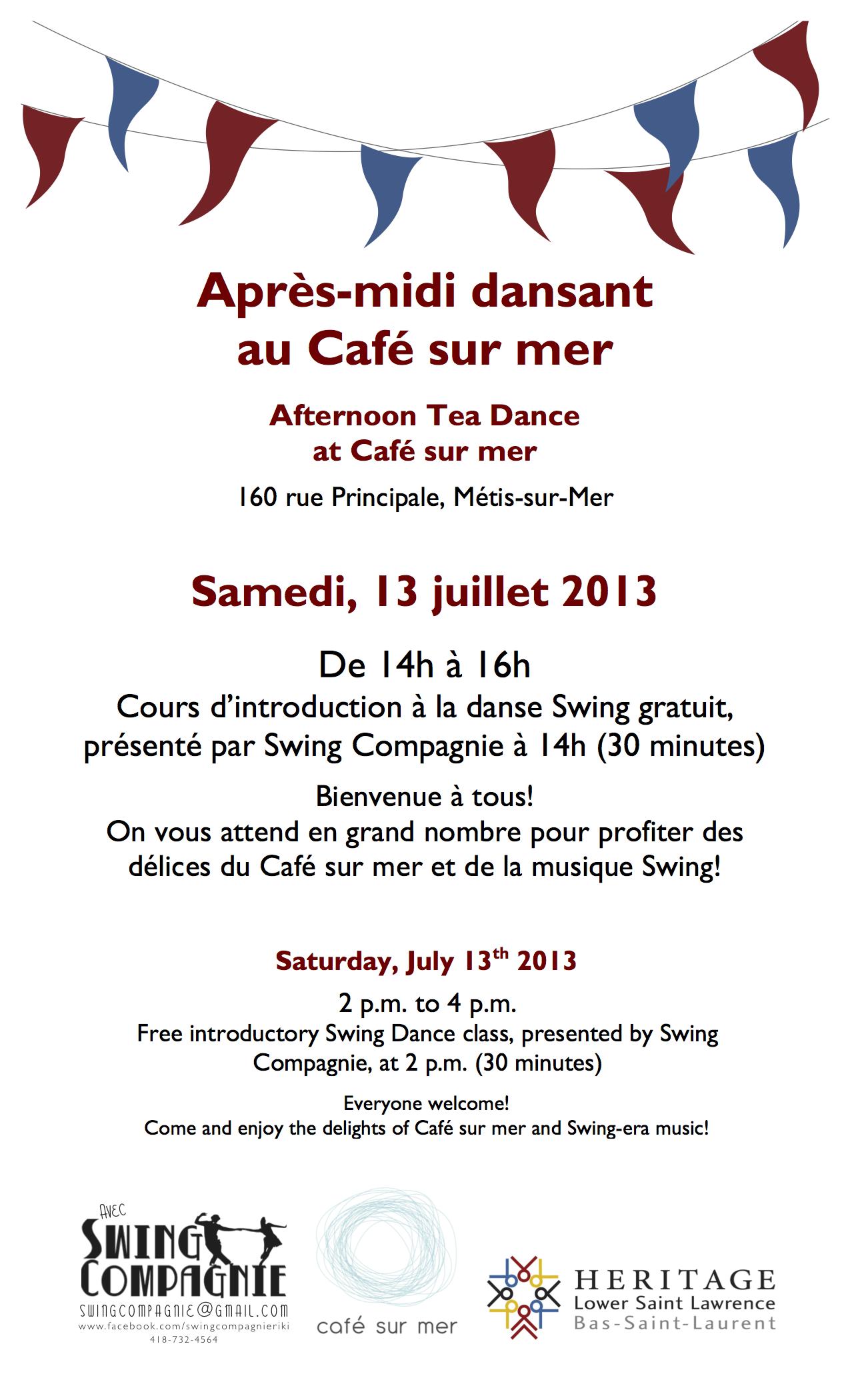 HLSL-Events-Tea Dances-POSTER