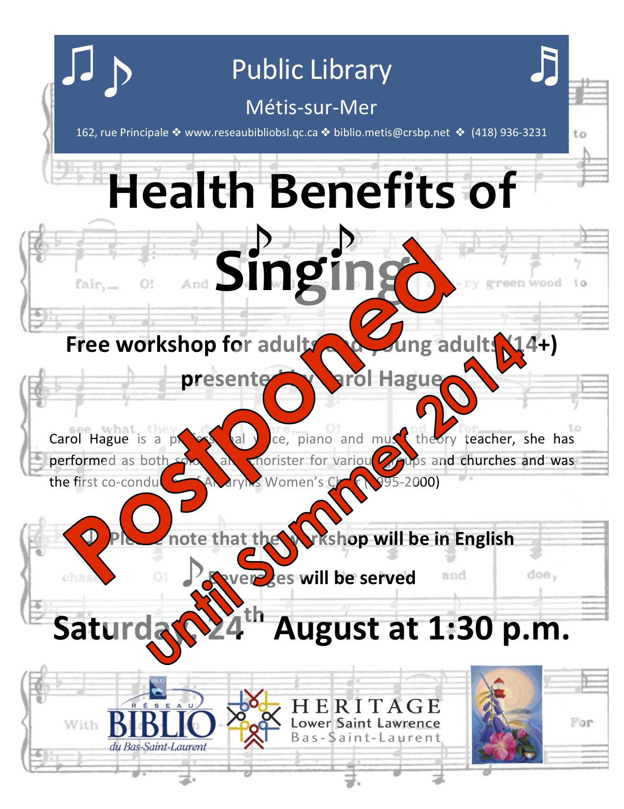 HLSL-Library-Singing Workshop-Aug 2013-postponed