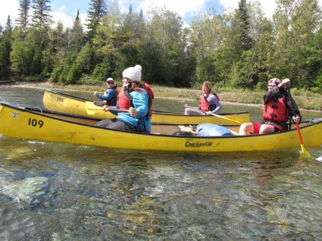HLSL-Newsletter-Autumn 2013-p4-2 canoe-Paul Doucette