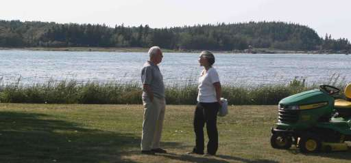 """Bill Pearce and Joan Sullivan in Métis-sur-Mer: """"Erosion is very much part of the Metis landscape"""""""