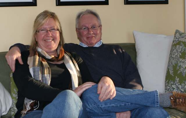 Heidi Hoff and Paul Fortier at their home in Isle-Verte Photo: Susan Woodfine