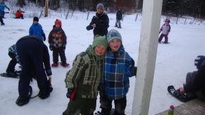 2011-2012 Elementary students prepare to go snowshoeing. Photo: Metis Beach School