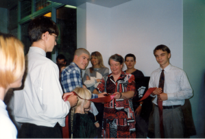 The ribbon cutting in 1997 to officially open the permanent extension. Photo: Heritage Lower Saint Lawrence