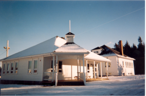 Metis Beach School as it looks today. This photo clearly shows the original building (at the back) and the extension (at the front). Photo: Heritage Lower Saint Lawrence