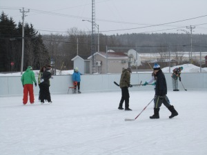 Secondary Students enjoy a day of skating at the rink in Baie des Sables Photo: Metis Beach School