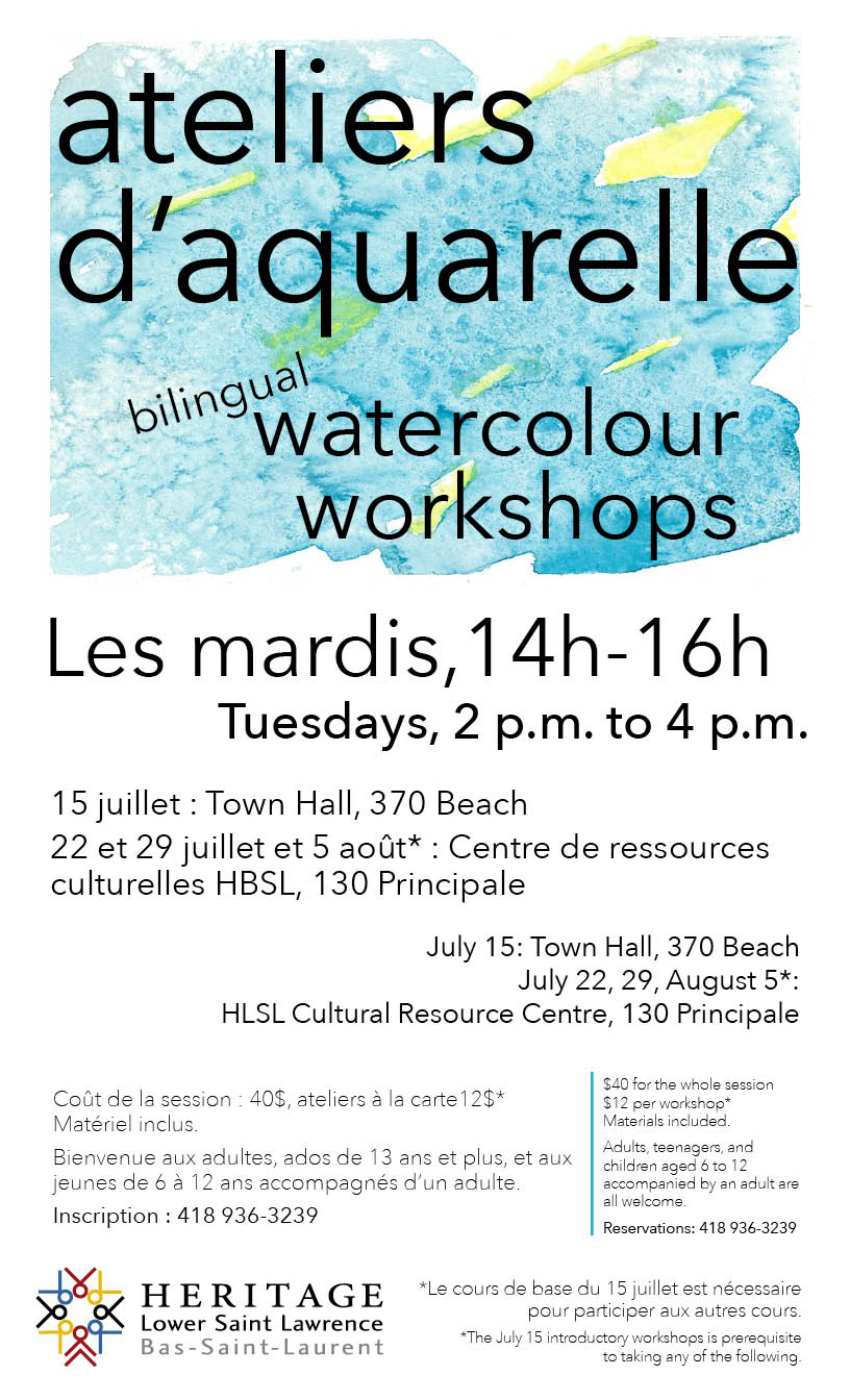 HLSL-HCRC-Activities-Watercoulour Workshops-Poster_web