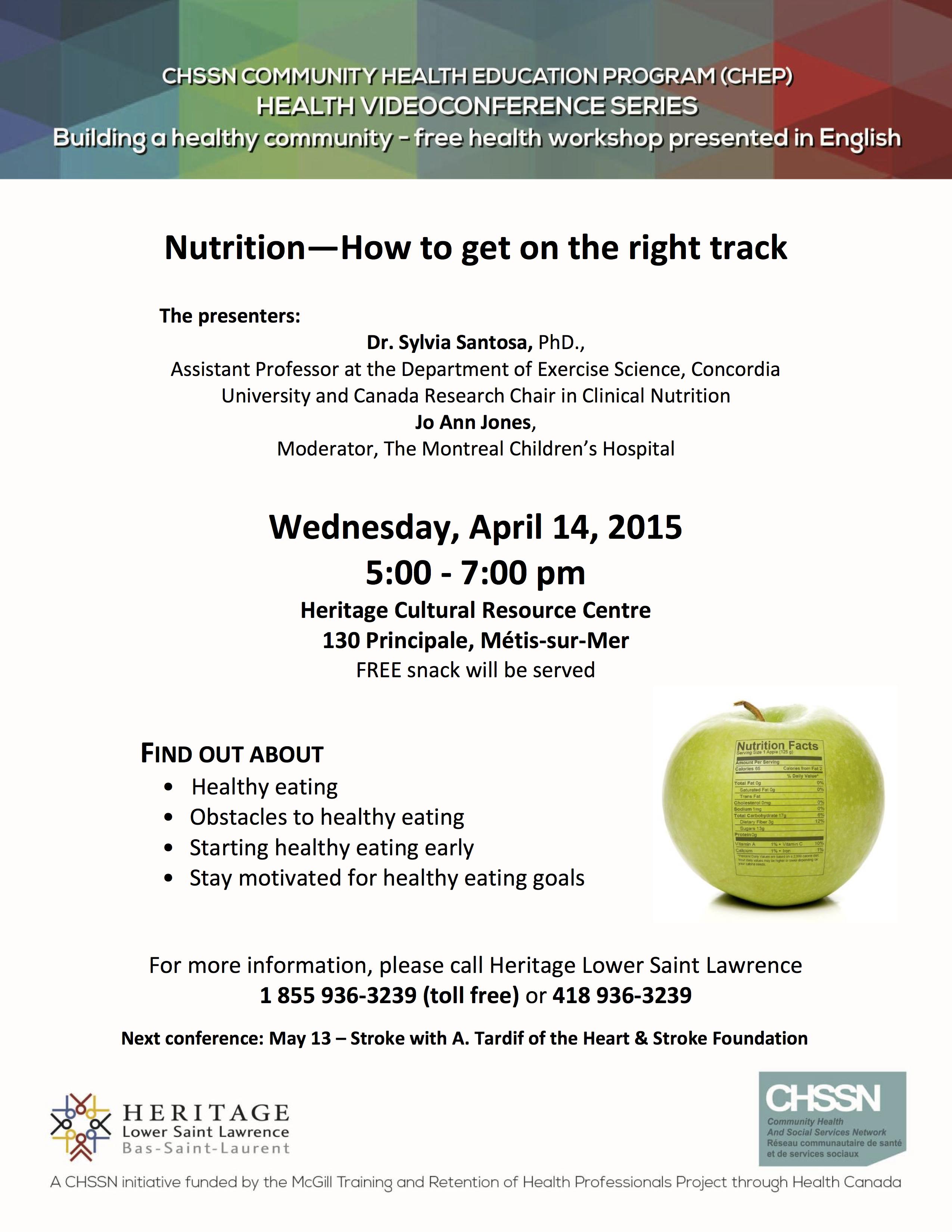 HLSL-CHEP-Avril2015-Nutrition EN