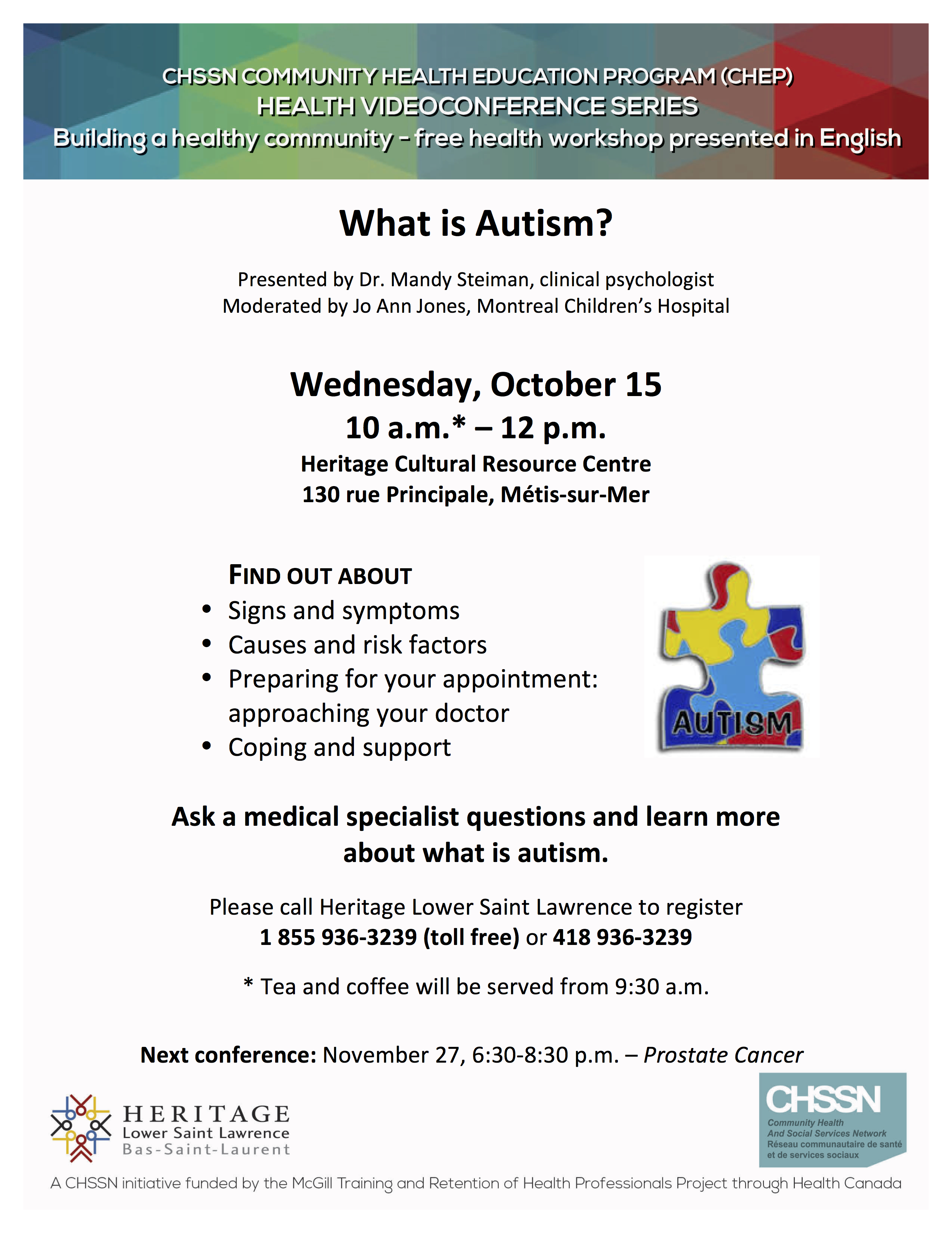 What is Autism – Free Videoconference